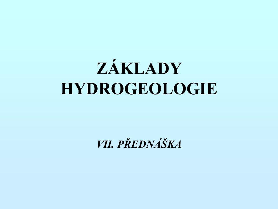 ZÁKLADY HYDROGEOLOGIE