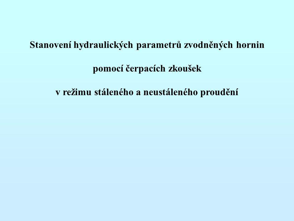 Stanovení hydraulických parametrů zvodněných hornin