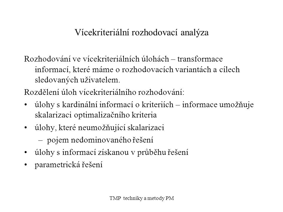 Vícekriteriální rozhodovací analýza