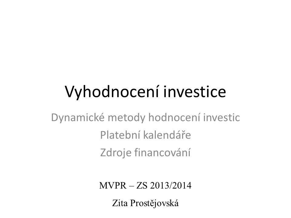 Vyhodnocení investice