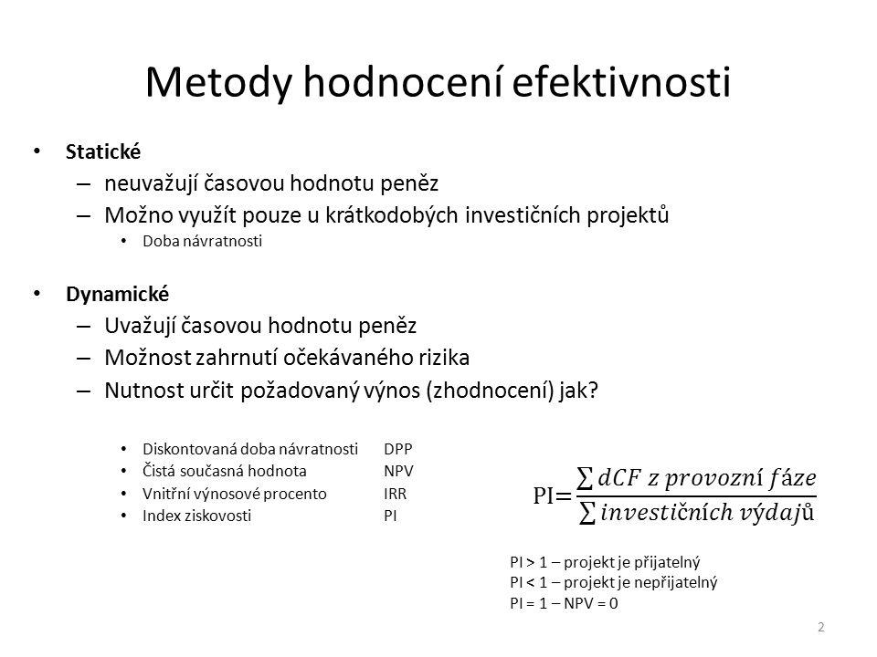 Metody hodnocení efektivnosti