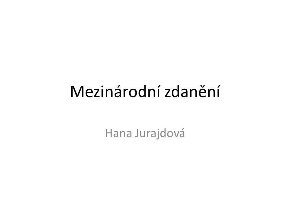 Mezinárodní zdanění Hana Jurajdová