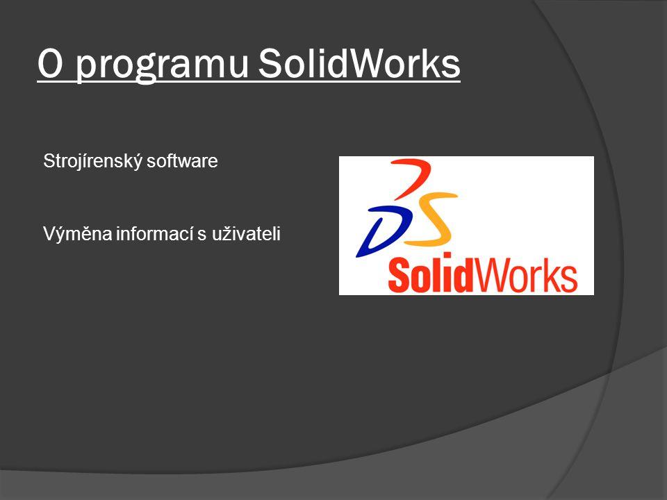 O programu SolidWorks Strojírenský software
