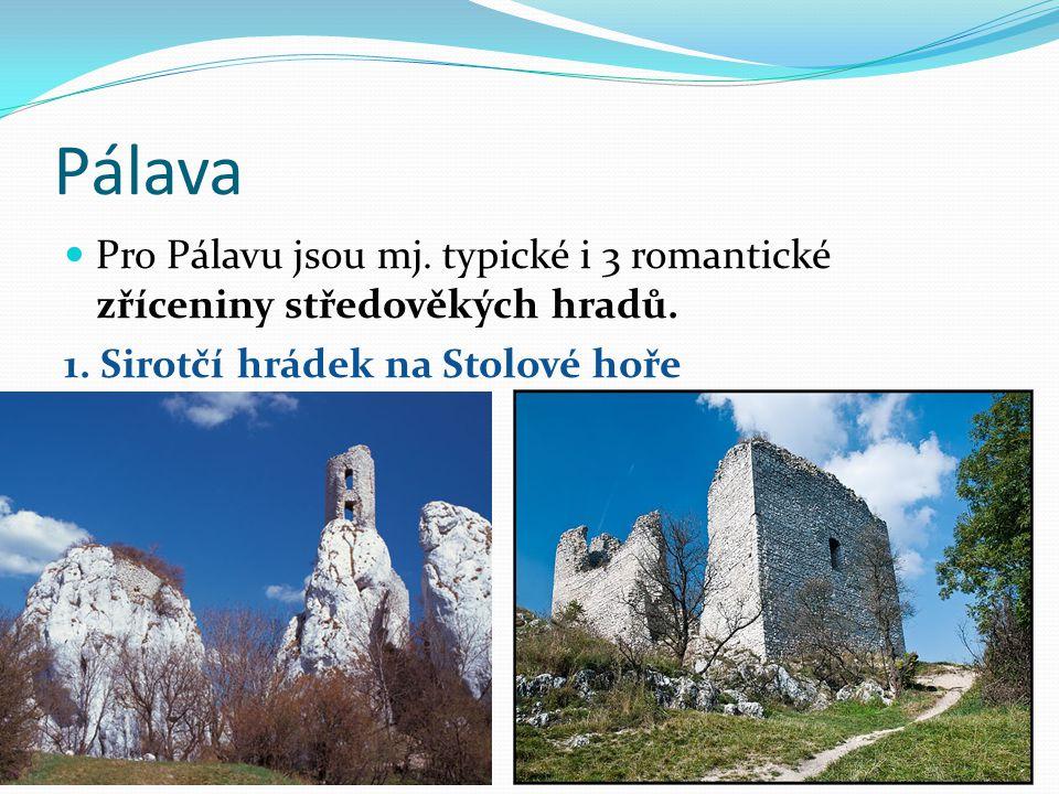 Pálava Pro Pálavu jsou mj. typické i 3 romantické zříceniny středověkých hradů.