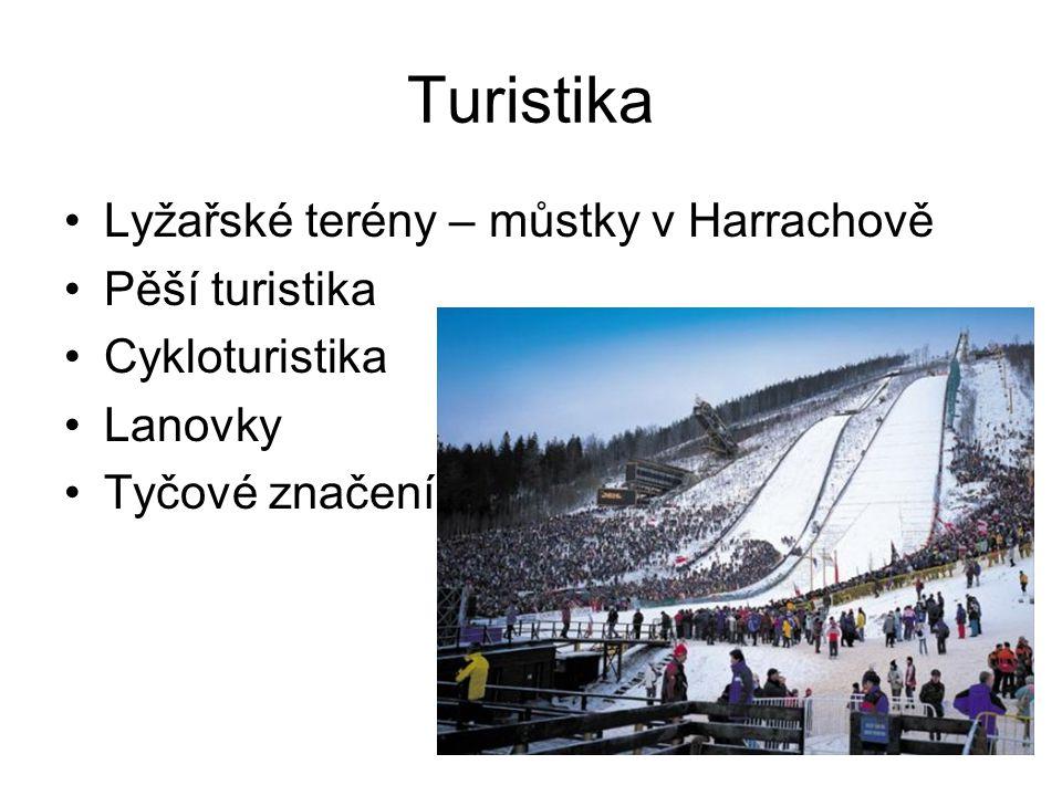 Turistika Lyžařské terény – můstky v Harrachově Pěší turistika