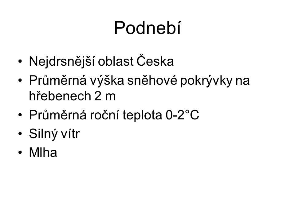Podnebí Nejdrsnější oblast Česka