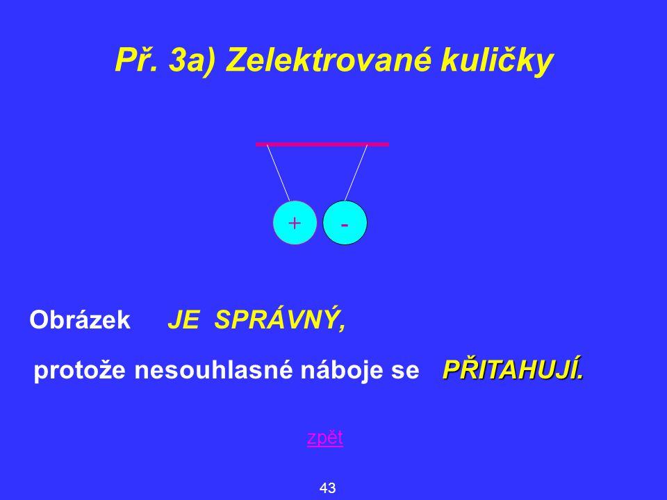 Př. 3a) Zelektrované kuličky