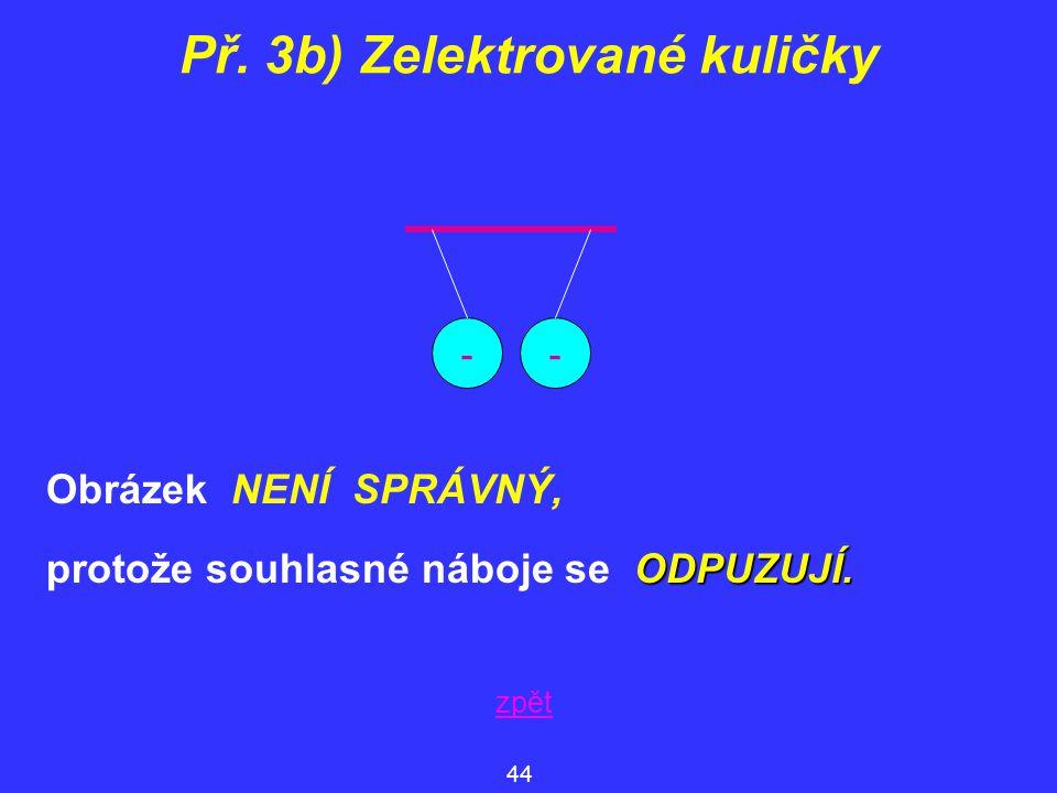 Př. 3b) Zelektrované kuličky
