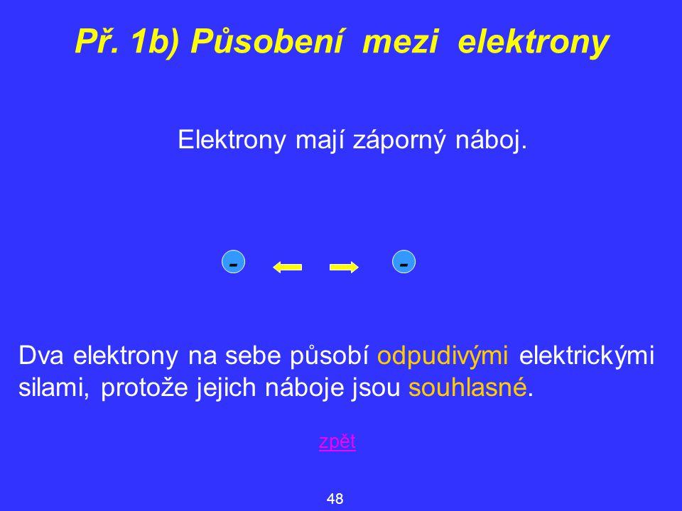 Př. 1b) Působení mezi elektrony