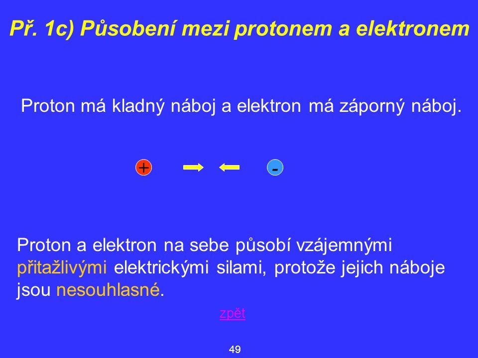 Př. 1c) Působení mezi protonem a elektronem