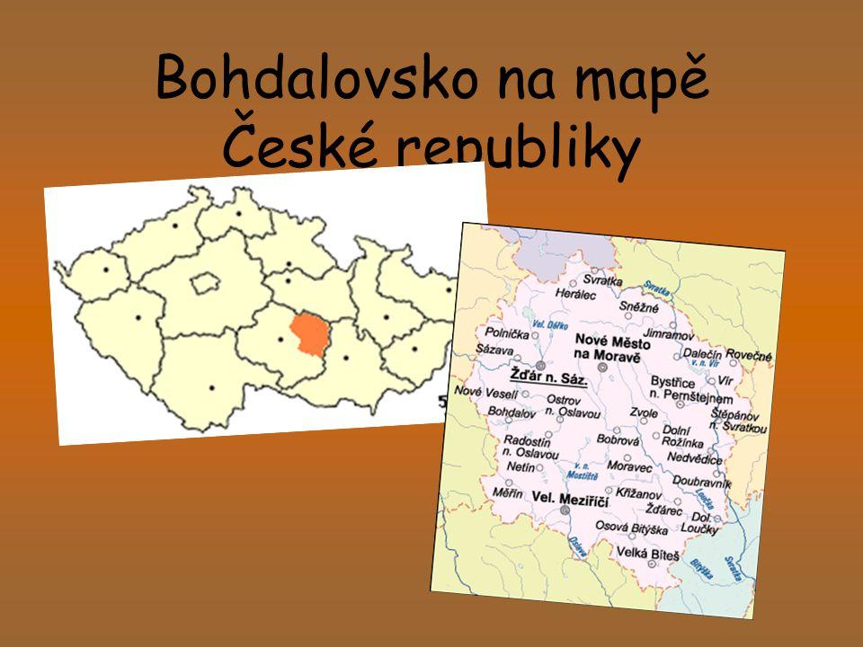 Bohdalovsko na mapě České republiky