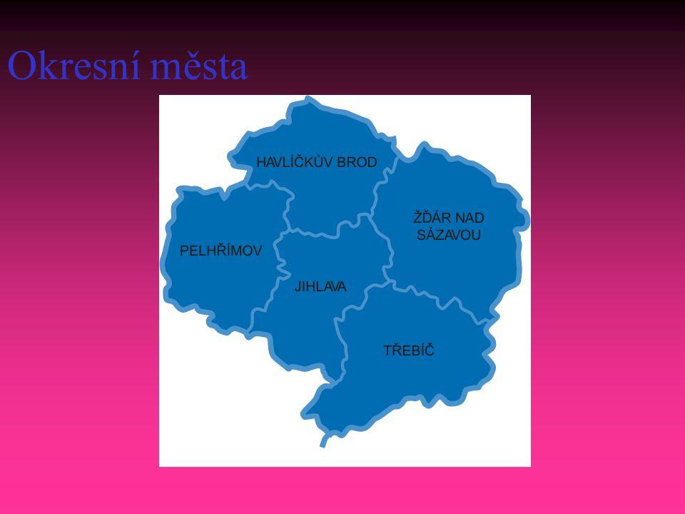 Okresní města