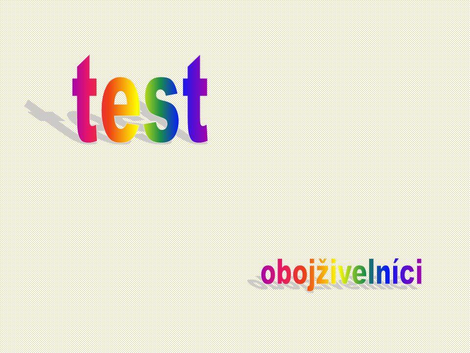test obojživelníci