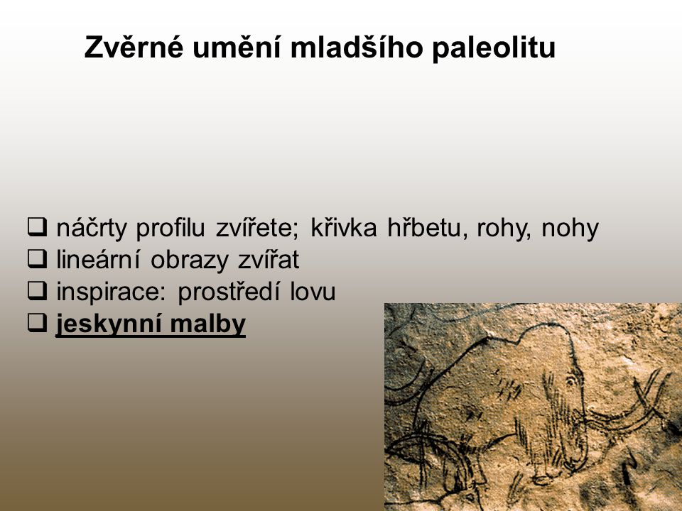 Zvěrné umění mladšího paleolitu
