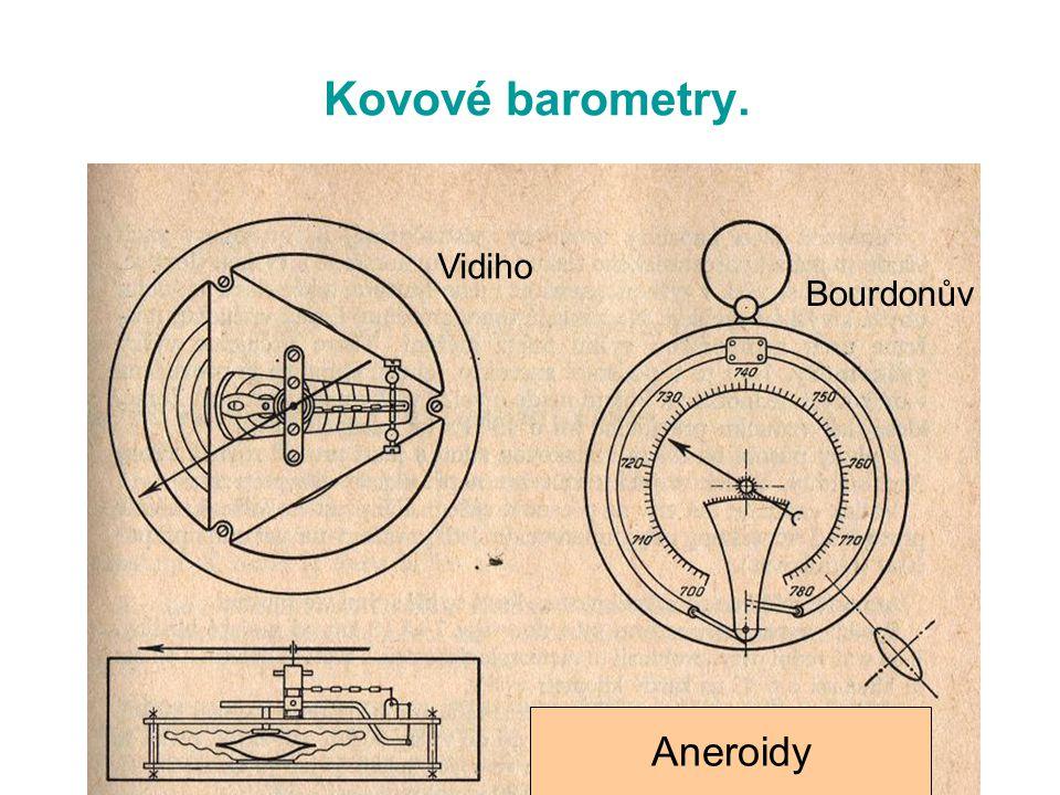 Kovové barometry. Vidiho Bourdonův Aneroidy