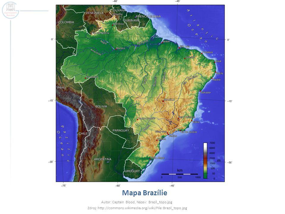 Mapa Brazílie Autor: Captain Blood, Název: Brazil_topo.jpg