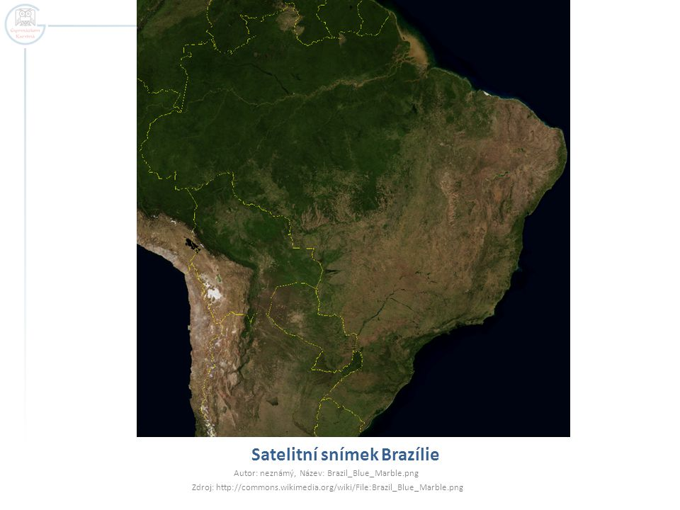 Satelitní snímek Brazílie