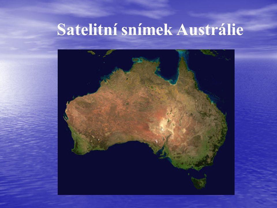 Satelitní snímek Austrálie
