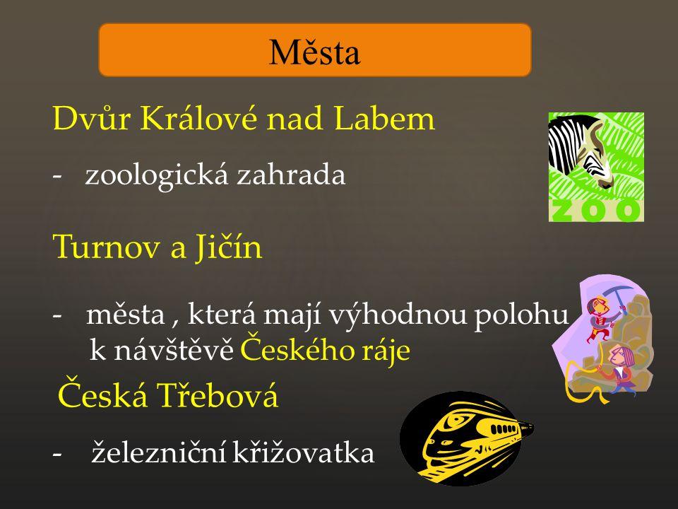 Města Dvůr Králové nad Labem Turnov a Jičín Česká Třebová
