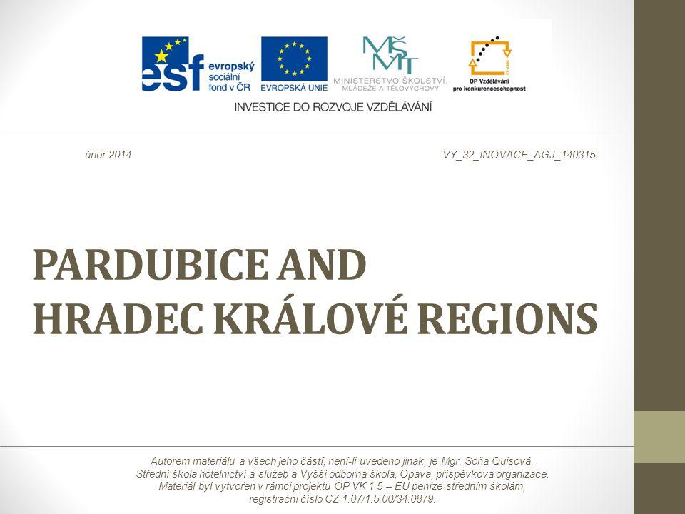 PARDUBICE AND HRADEC KRÁLOVÉ REGIONS