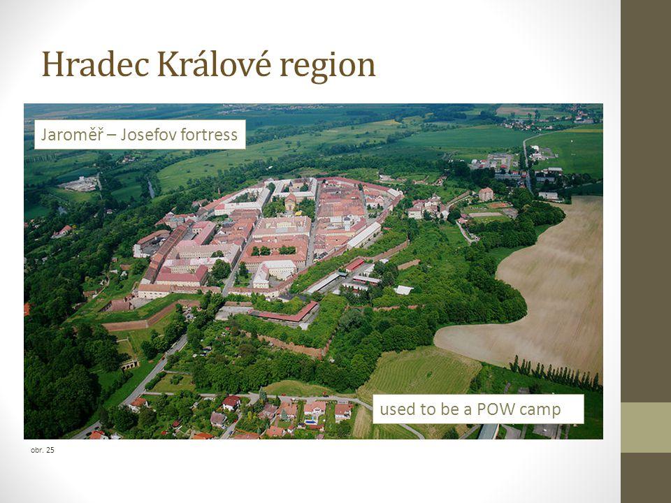 Hradec Králové region Jaroměř – Josefov fortress used to be a POW camp