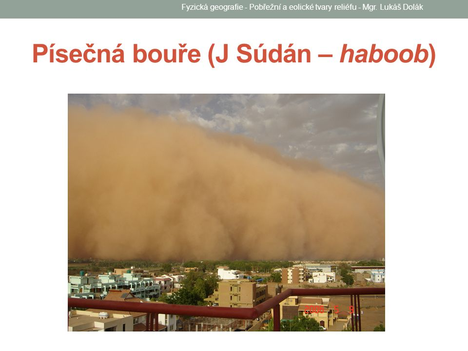 Písečná bouře (J Súdán – haboob)