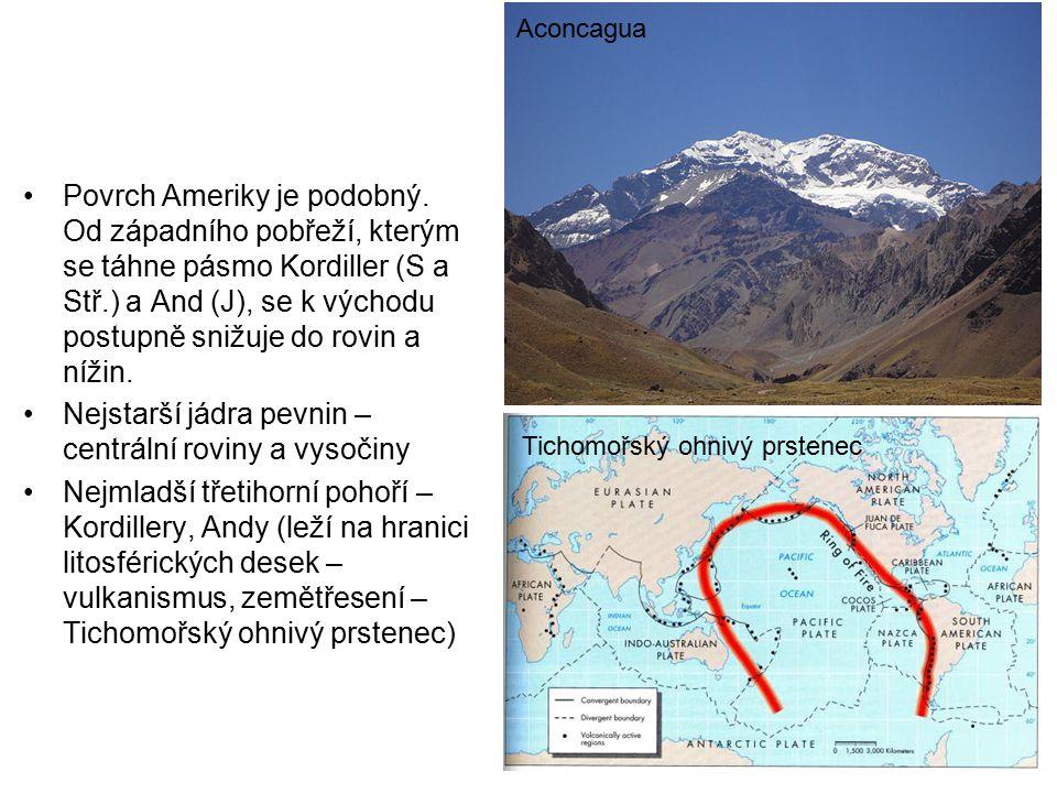 Nejstarší jádra pevnin – centrální roviny a vysočiny