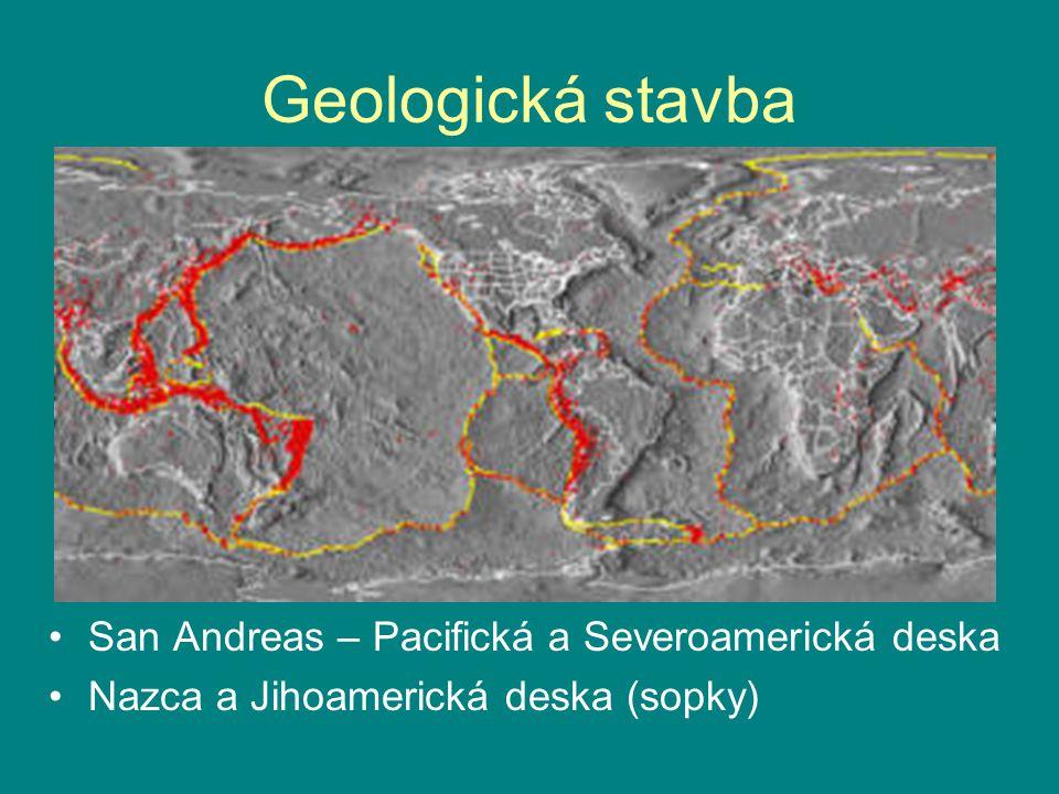 Geologická stavba San Andreas – Pacifická a Severoamerická deska