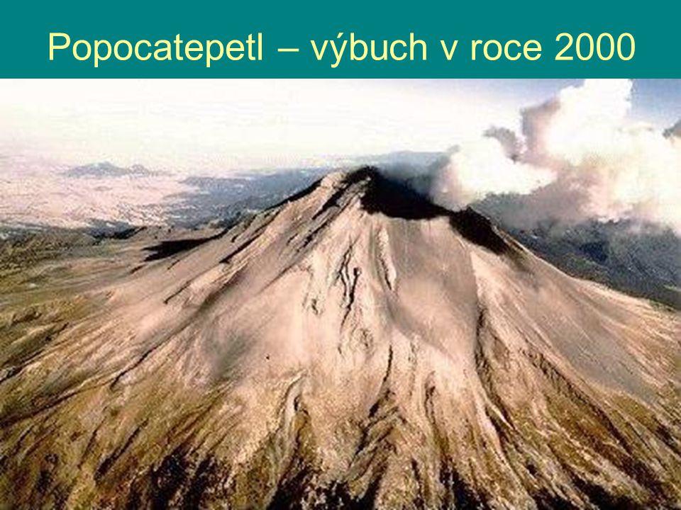 Popocatepetl – výbuch v roce 2000