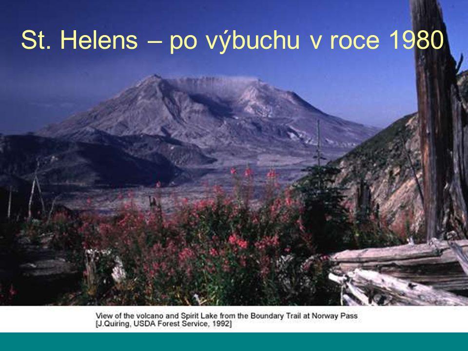 St. Helens – po výbuchu v roce 1980