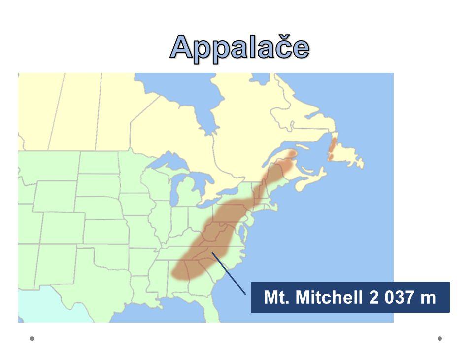 21.6.2012 Appalače. Appalachian Mountains – 3 tisíce km dlouhé.