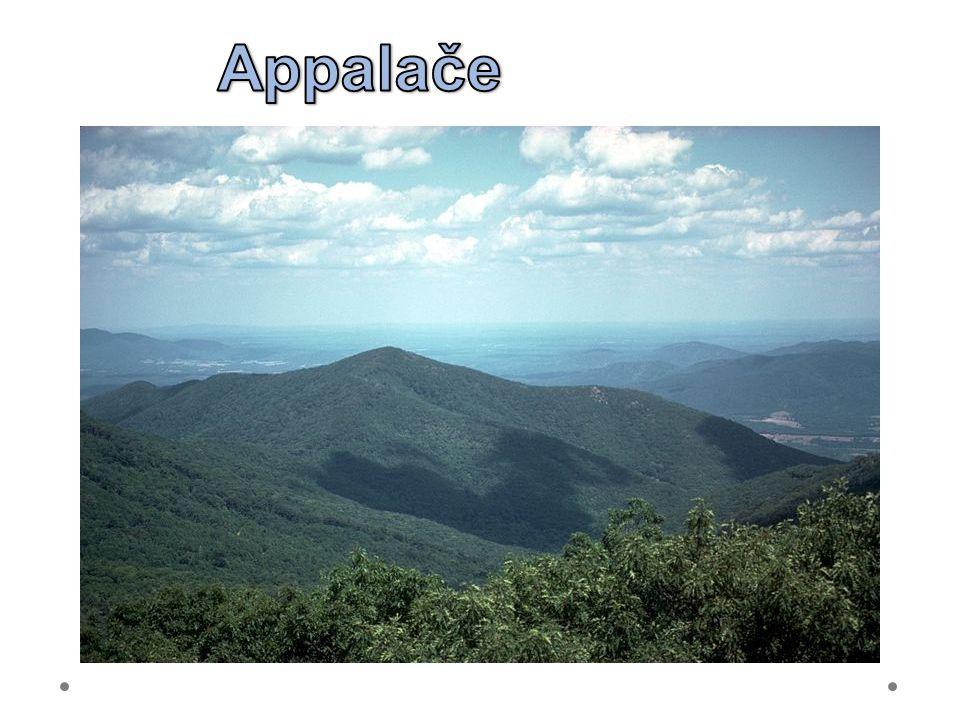"""21.6.2012 Appalače. Appalachian Mountains – provohorní pohoří – """"měkké tvary."""