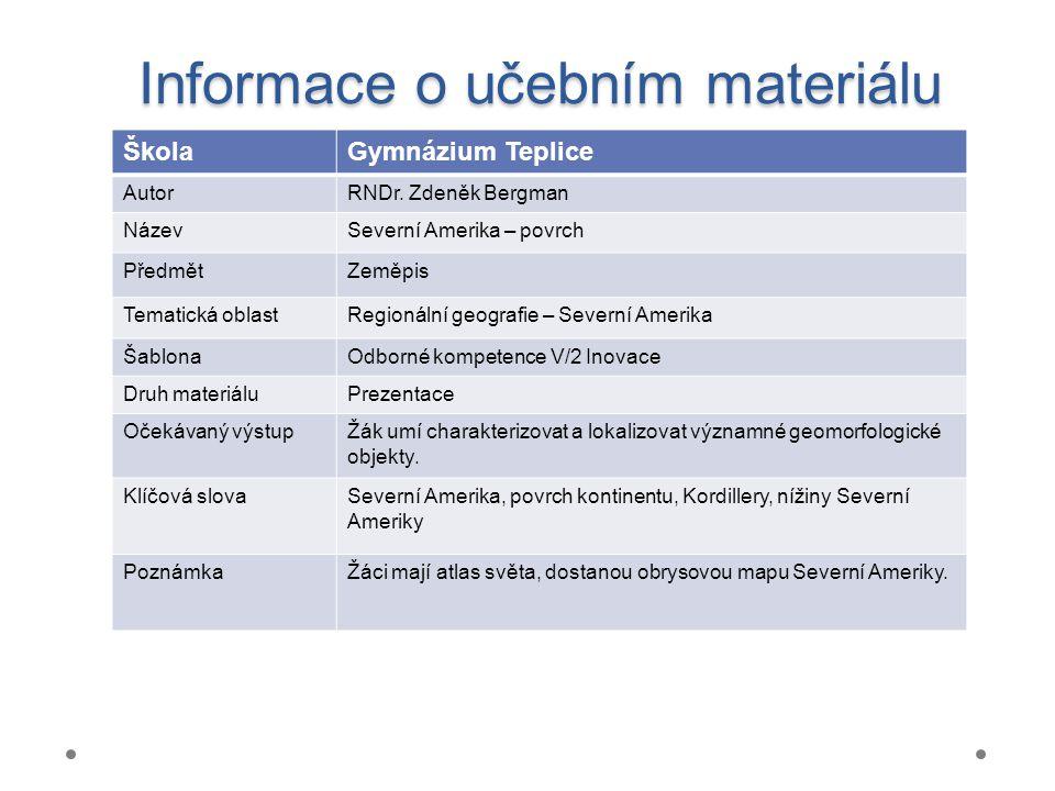 Informace o učebním materiálu