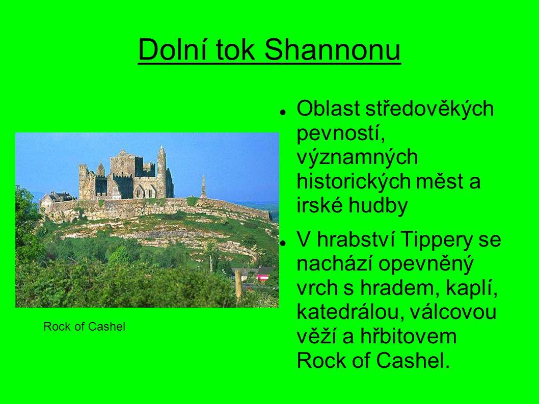 Dolní tok Shannonu Oblast středověkých pevností, významných historických měst a irské hudby.