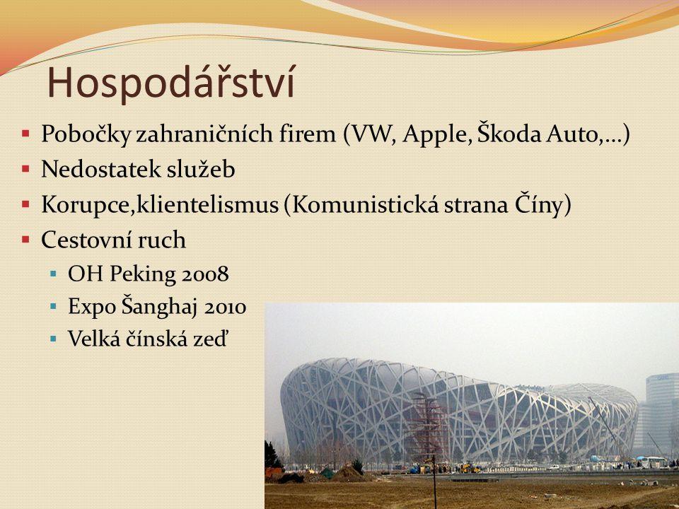 Hospodářství Pobočky zahraničních firem (VW, Apple, Škoda Auto,…)