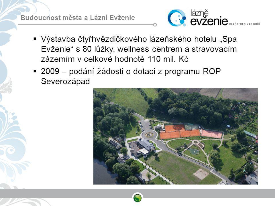 2009 – podání žádosti o dotaci z programu ROP Severozápad