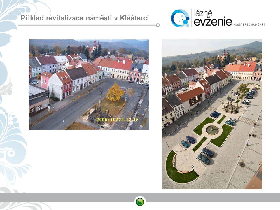 Příklad revitalizace náměstí v Klášterci