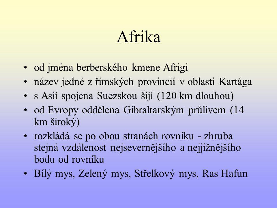 Afrika od jména berberského kmene Afrigi