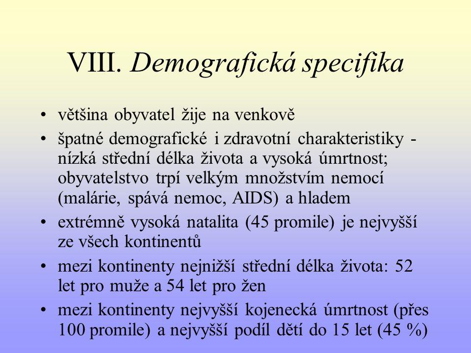 VIII. Demografická specifika