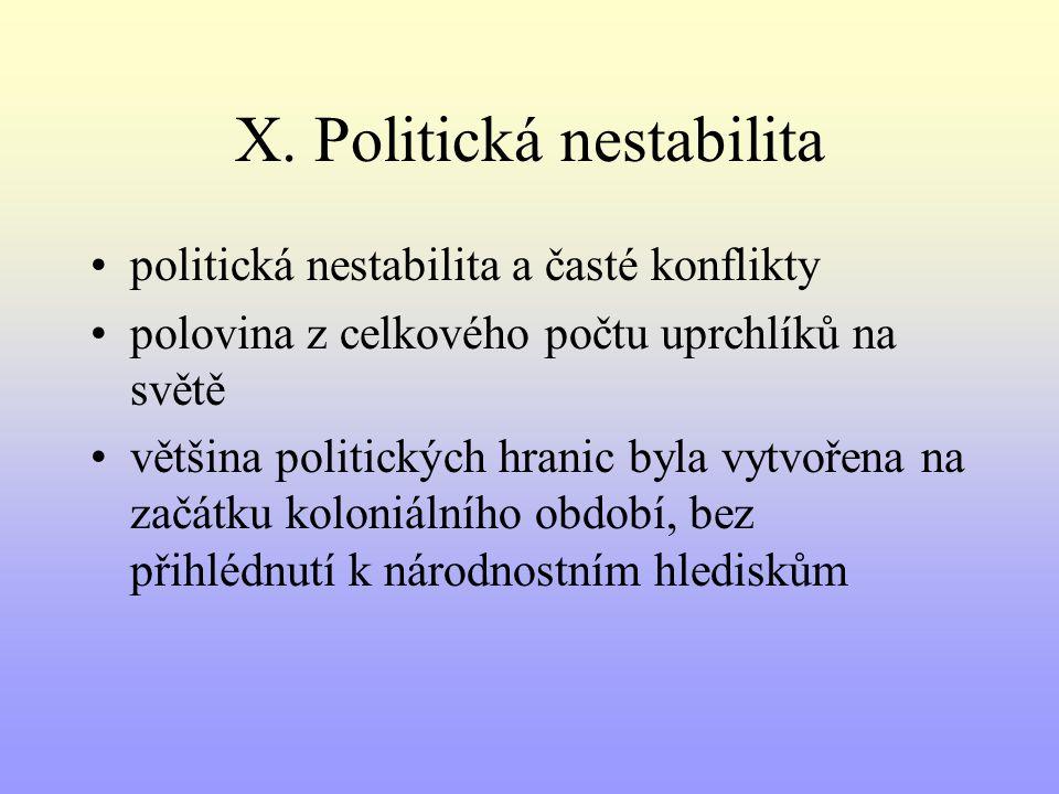 X. Politická nestabilita