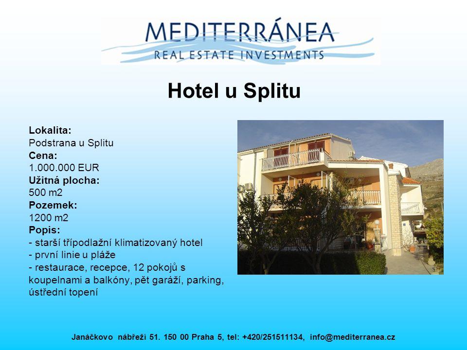 Hotel u Splitu Lokalita: Podstrana u Splitu Cena: 1.000.000 EUR