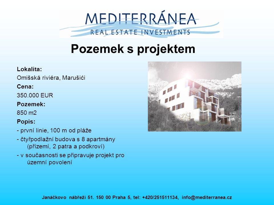 Pozemek s projektem Lokalita: Omišská riviéra, Marušići Cena: