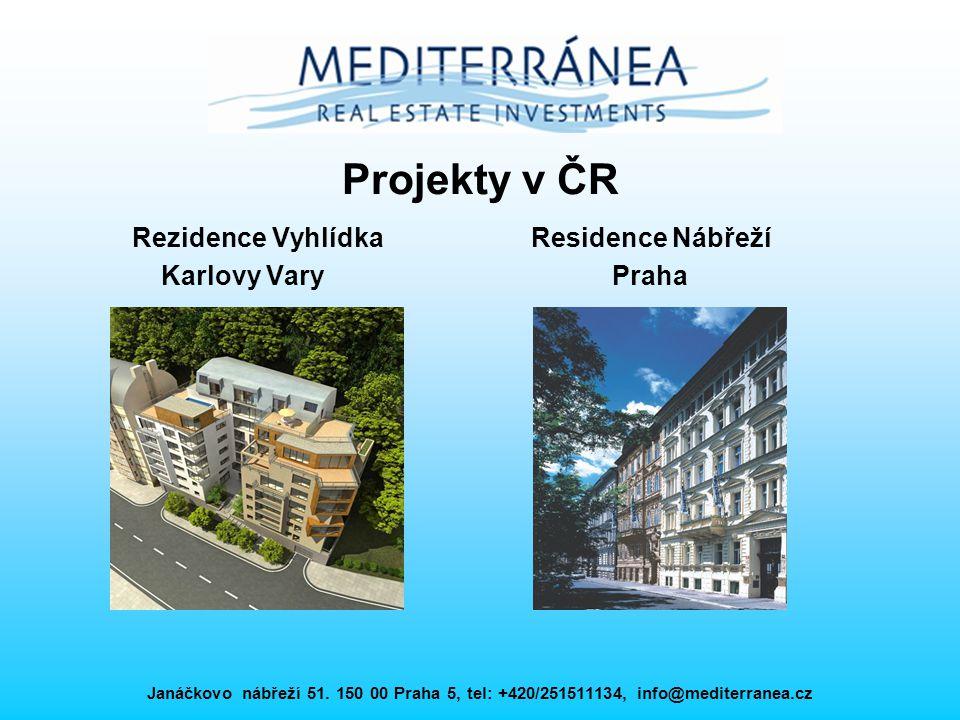 Projekty v ČR Rezidence Vyhlídka Residence Nábřeží Karlovy Vary Praha