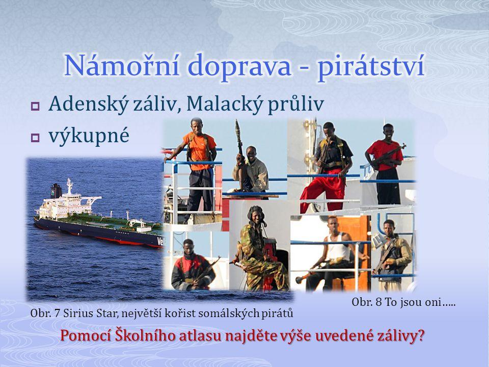 Námořní doprava - pirátství