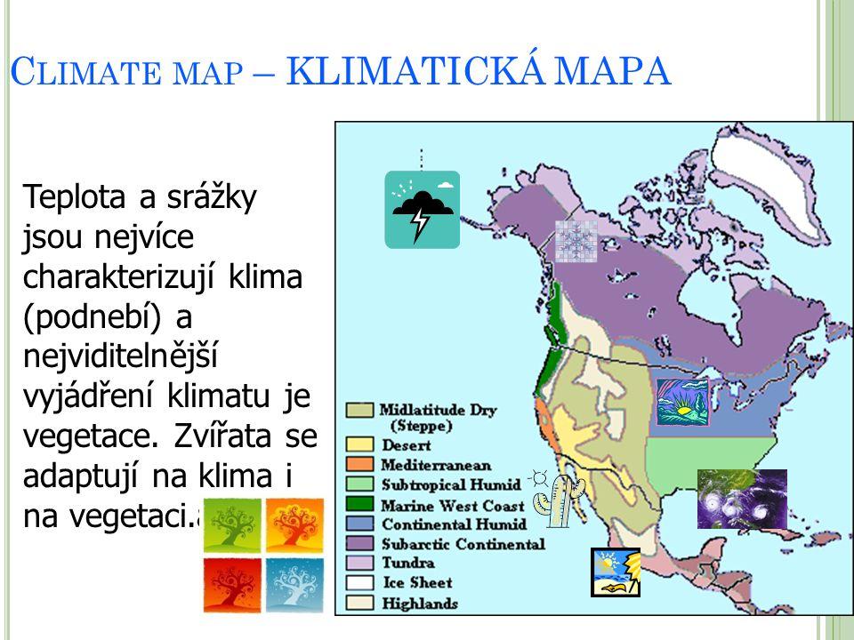 Climate map – KLIMATICKÁ MAPA