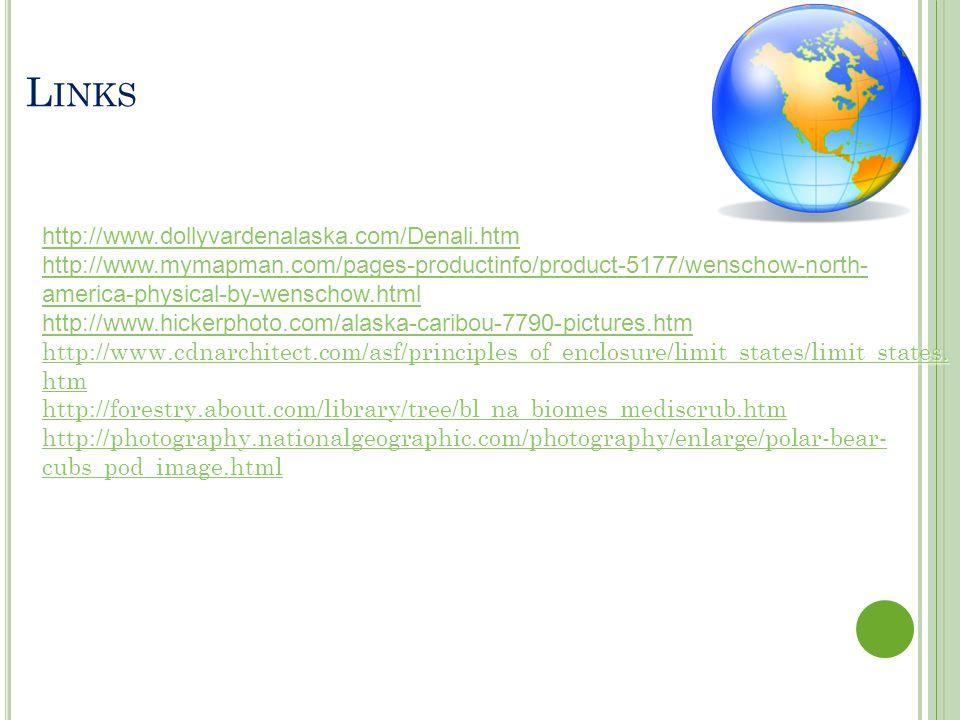 Links http://www.dollyvardenalaska.com/Denali.htm