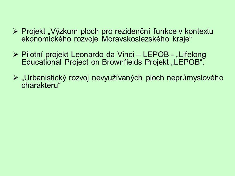 """Projekt """"Výzkum ploch pro rezidenční funkce v kontextu ekonomického rozvoje Moravskoslezského kraje"""