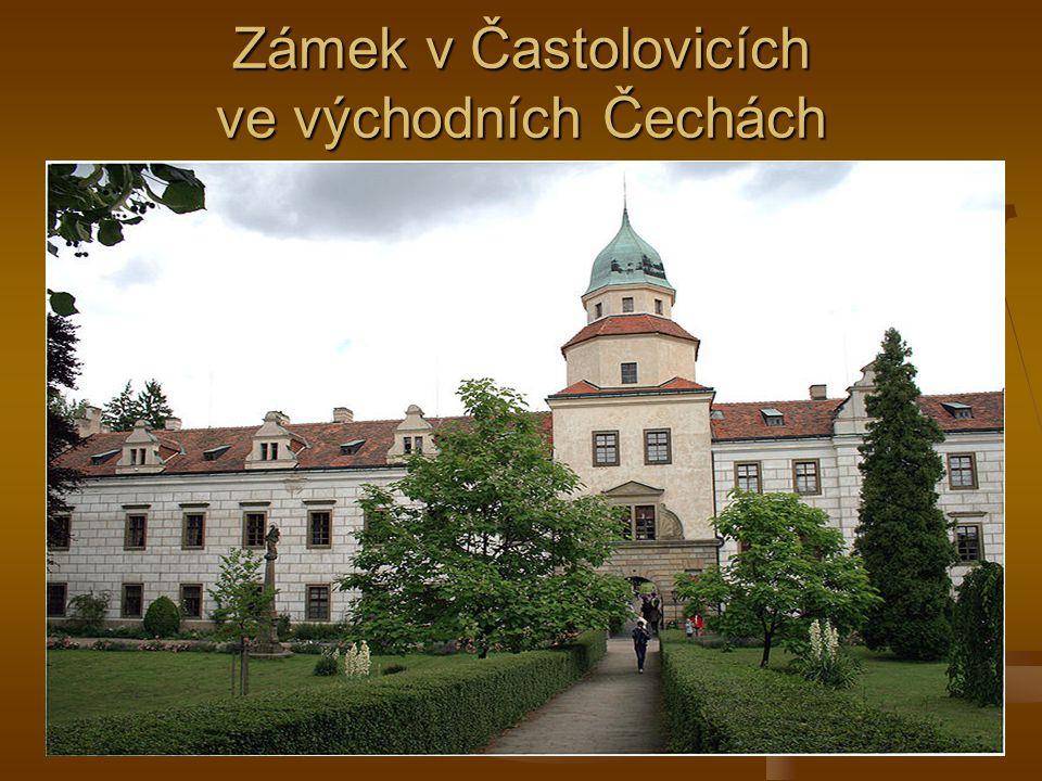 Zámek v Častolovicích ve východních Čechách