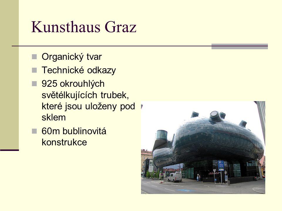 Kunsthaus Graz Organický tvar Technické odkazy
