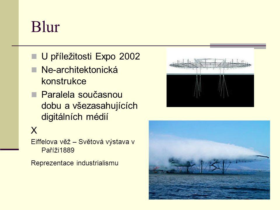 Blur U příležitosti Expo 2002 Ne-architektonická konstrukce